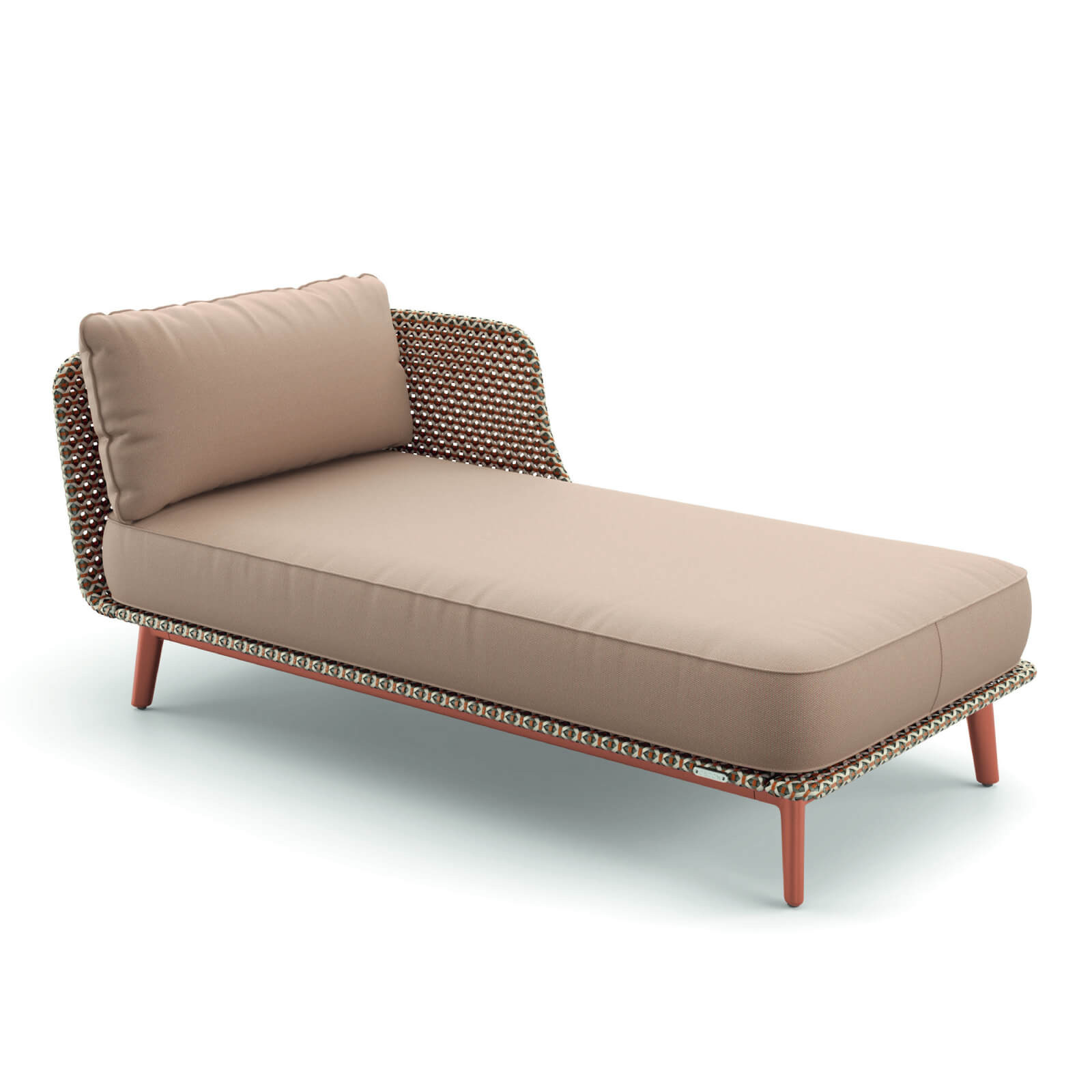 DEDON MBARQ Daybed links 084 terracotta mit 151 chestnut