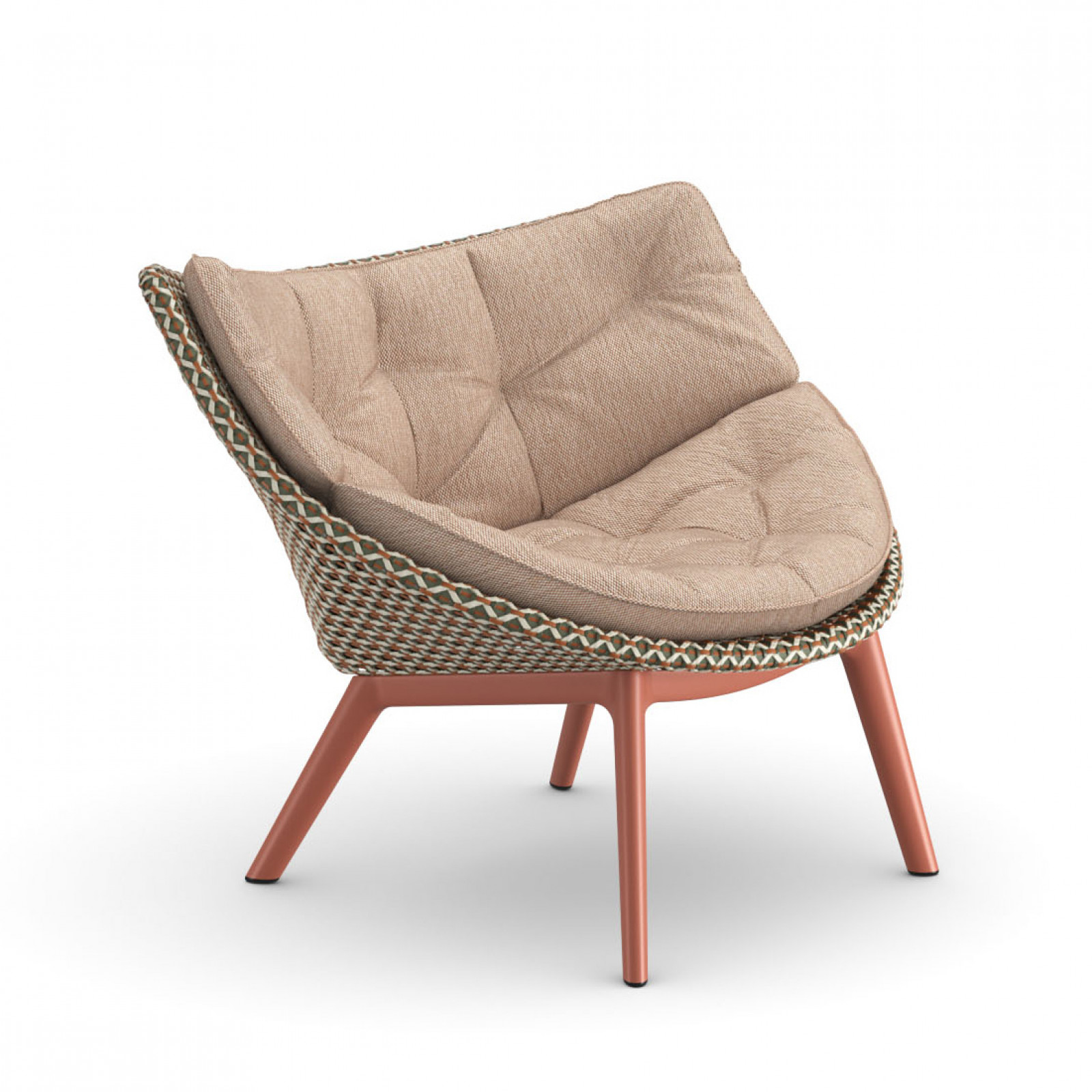 Mbrace Loungessel: Chestnut + Cool terracotta
